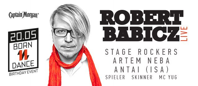 Robert Babicz (Live), StageRockers, Artem Neba, Antai (ISA), Spieler, Skinner, Mc Yug
