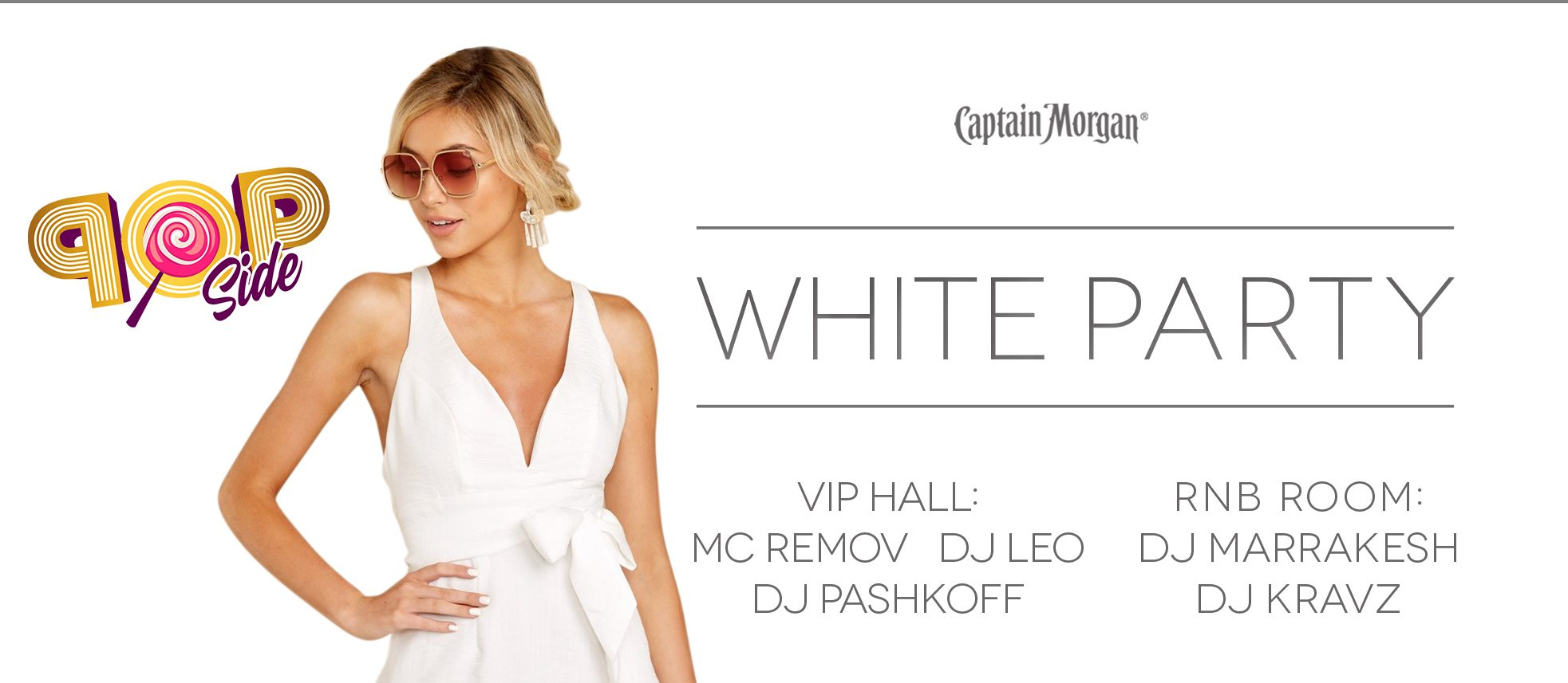 POP Side. WHITE Party.