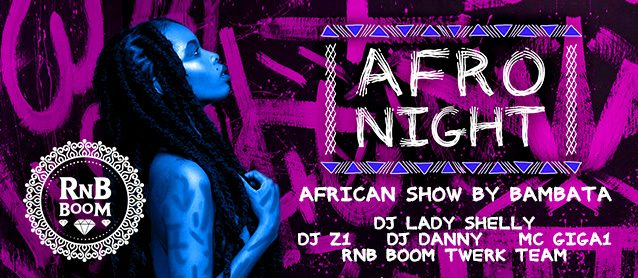 RnB BooM. Afro Night.