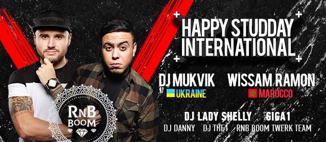 Happy StudDay international. Dj Wissam (Marocco), Dj Mukvik, Dj Lady Shelly, Mc Giga1