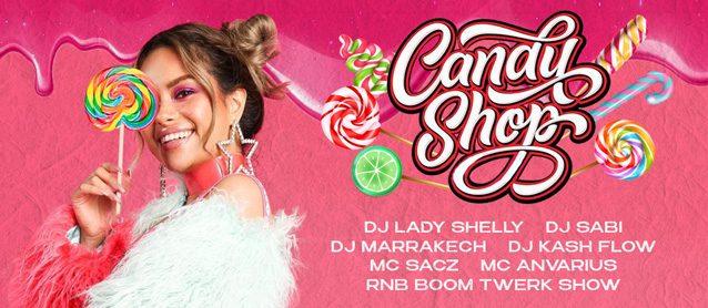 RnB BooM.Candy Shop.Dj Lady Shelly, Dj Sabi, Dj Marrakech, Dj Kash Flow, Mc Sacz, Mc Anvarius.RnB BooM Twerk Show