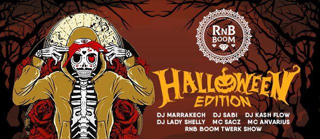 RnB Halloween. Dj Marrakech, Dj Sabi, Dj Kash Flow, Dj Lady Shelly, Mc Sacz, Mc Anvarius.RnB BooM Twerk Show