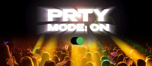 PRTY mode:On. Dj Chris Tian, Dj Harvis, Dj Marrakech, Mc Anette / Mc Li Berty